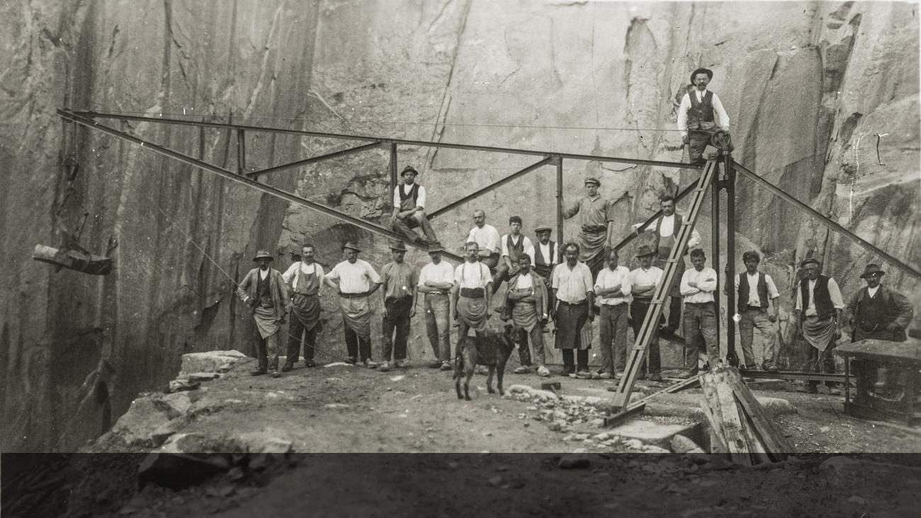 Harte Arbeit im Steinbruch © -, Sammlung Gstöttenmayer / Verein Geschichte teilen