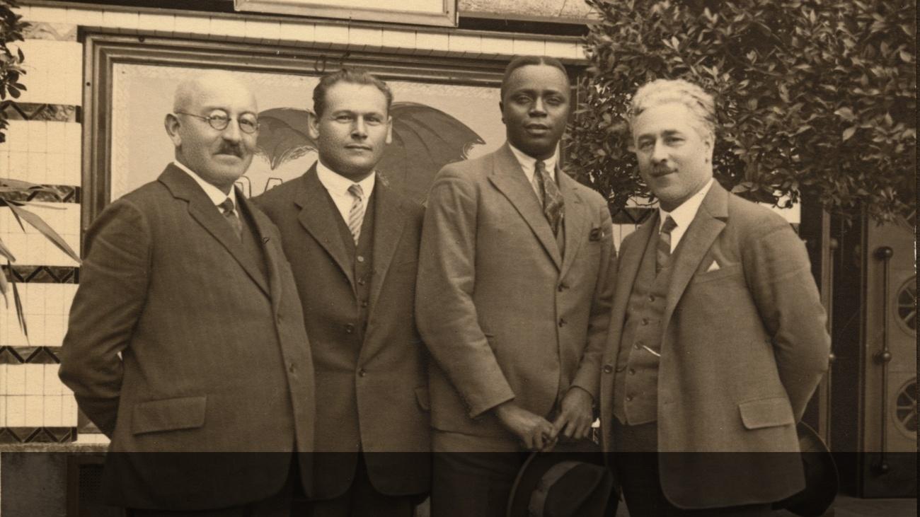Pregang, Kadalie, Strasser, Ottenbacher © -, Archiv Soziale Bewegungen in OÖ (asbooe), Nachlass M. Lotteraner, Digitale Bildsammlung H. Pregant