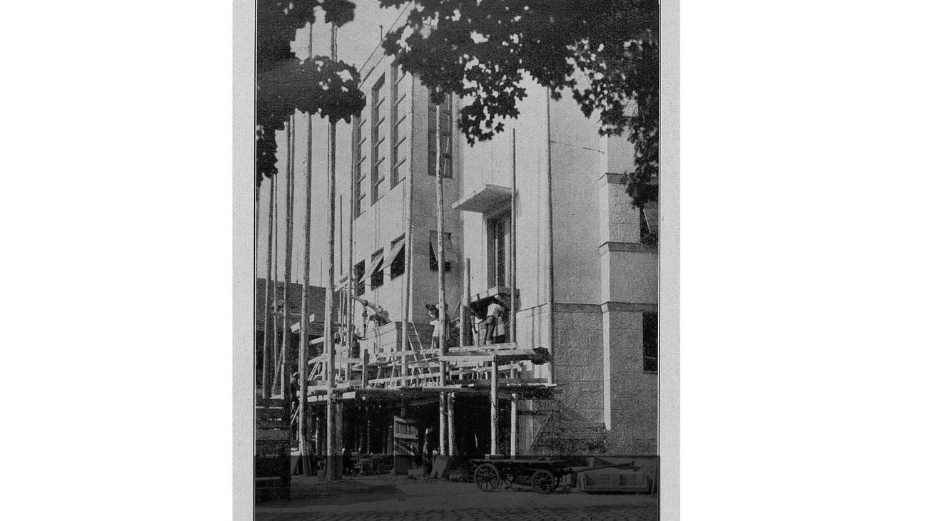 Errichtung Haupteingang © -, Verein Geschichte teilen
