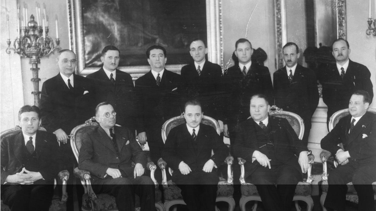 Regierungstagung der Vaterländischen Front im Jahr 1934 © -, ÖNB Wien: Pf 5.465:D(33)