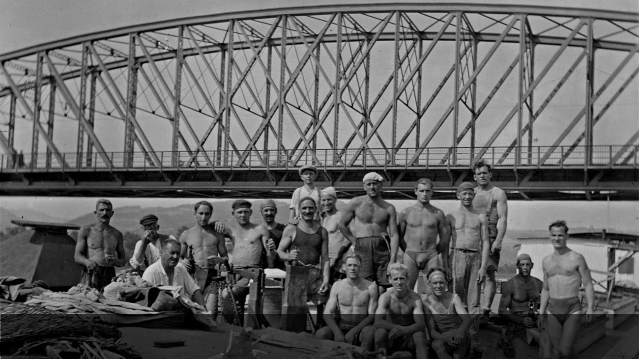 Verladearbeiter im Linzer Hafen © -, Sammlung Gstöttenmayer / Verein Geschichte teilen