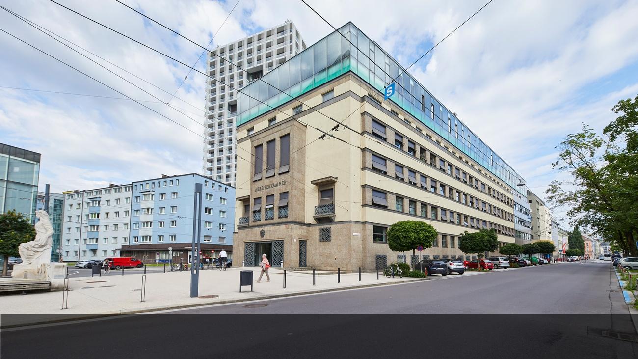 Der historische Bau von 1930 wird modernisiert © Erwin Wimmer, AKOÖ